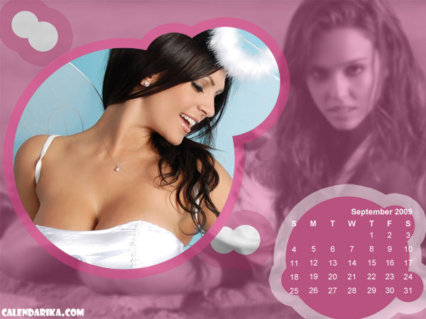 Calendar Wallpaper. Pink Spheres